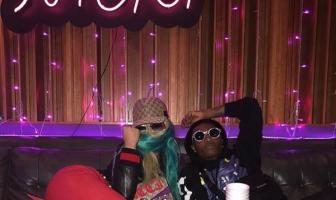 Wizkid hangs out with Nicki Minaj