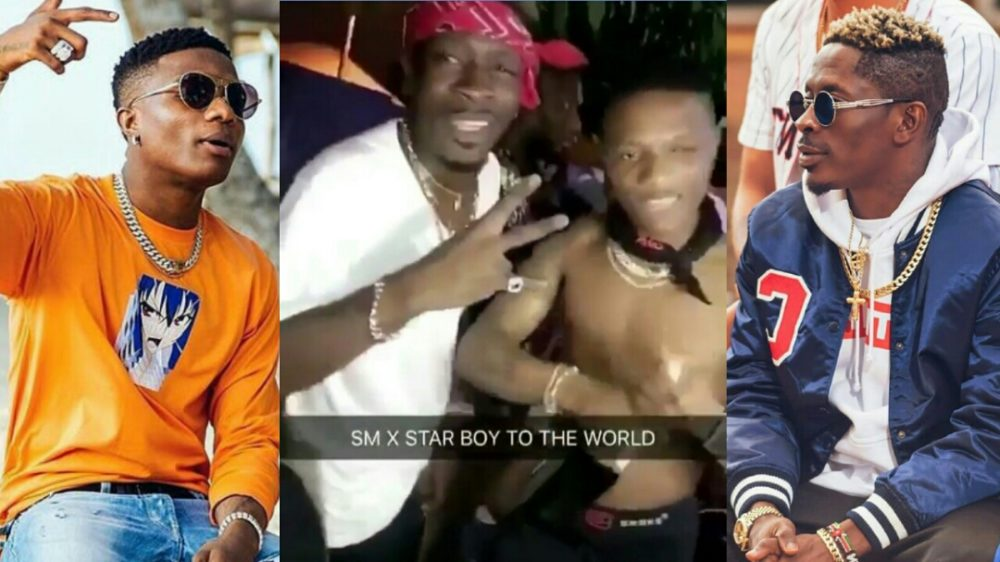 Wizkid and Shatta Wale party together in Ghana