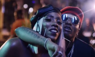 Wizkid and Tiwa Savage caught kissing in a club in Ghana