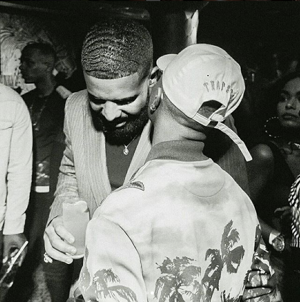 Wizkid finally meets Drake in London at Scorpion Album Listening Party