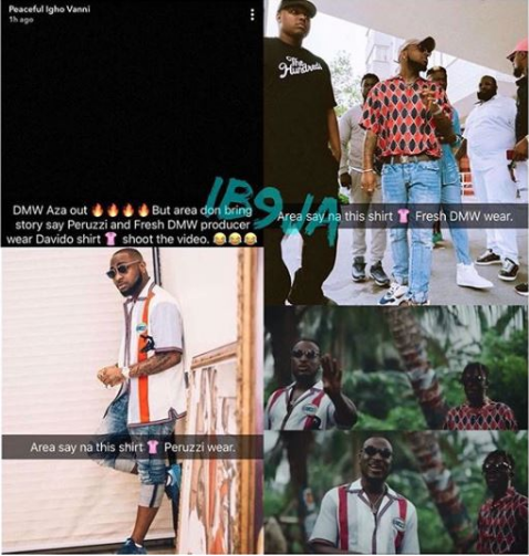Davido gives Peruzzi and Fresh VDM his used clothes