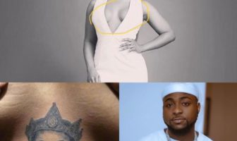 Tacha Removes Davido's Tattoo on Her Chest