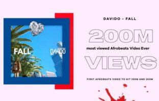 "Davido's Hit Single ""Fall"" Video Sets New Record on Youtube"