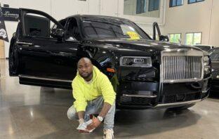 Davido Rewards Himself With New Rolls Royce, Prays For Fans