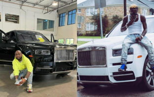 """""""I Don't Use My Father's Money For Hype""""- Shatta Wale Jibes At Davido, Flaunts His Own Rolls Royce"""