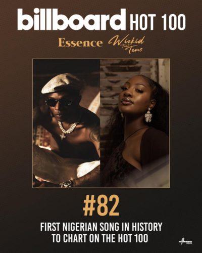 Tems & Wizkid Debut On Billboard Hot 100 For Essence