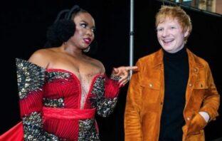 Ed Sheeran Meets Yemi Alade, Says He Prefer Ghana Jollof